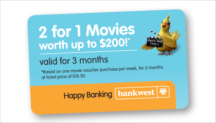 Bankwest Financial Health Checks incentive campaign material