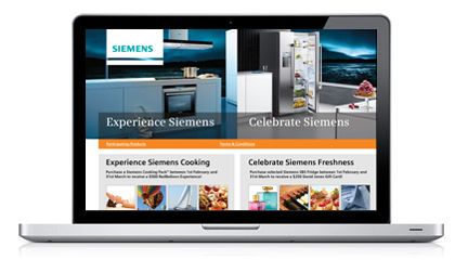 Experience Siemens Cooking Incentive Campaign Website