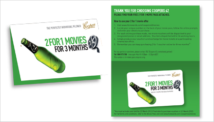 Coopers Cinema Rewards Incentive Campaign On Pack