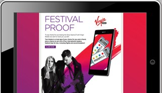 Sony and Virgin Mobile incentive campaign website