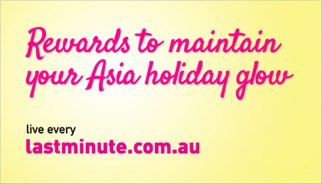Lastminute.com.au Maintain Your Glow Incentive Campaign Website