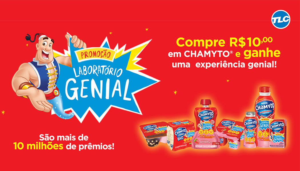 Promoção Lab Genial Chamyto e TLC Marketing