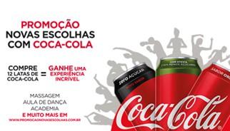 Promoção Novas escolhas com Coca-Cola