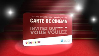 "TLC Marketing, la Carte de Cinéma ""2 pour 1"""