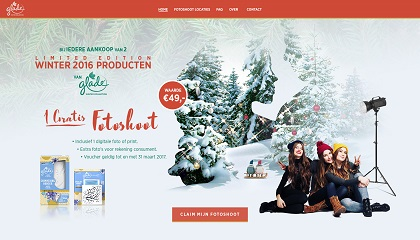 Glade winter limited edition gratis fotoshoot