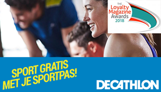 Decathlon Sportpas genomineerd voor Loyalty Magazine Awards 2018
