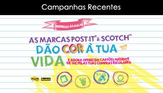 A TLC Marketing, desenvolve campanha de regresso às aulas com Post-it® e a Scotch®