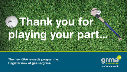 GAA says go raibh malt agat to its members with brand new loyalty program