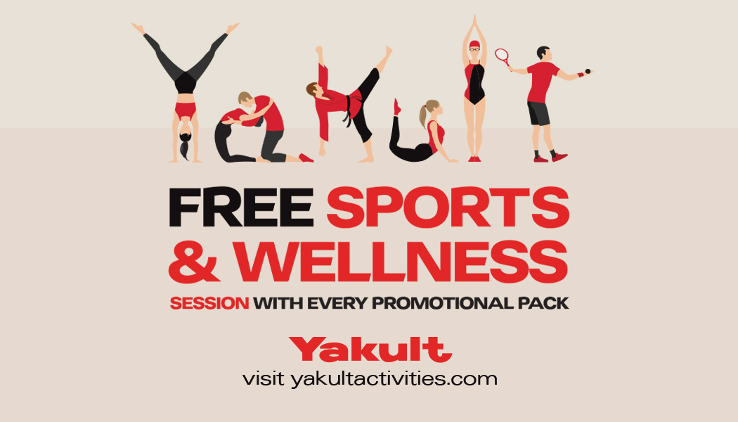 Yakult Summer Promotion Science of You. Free Sports or Wellness Session