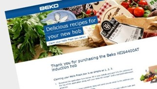 Beko campaign from TLC Marketing with Hello Fresh dining rewards