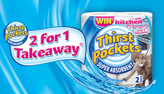 The new Thirst Pockets on pack promotion offers shoppers the chance to win a brand new kitchen
