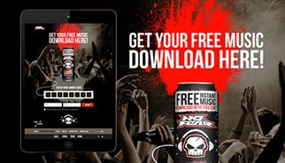 Customers purchasing a promotional can will receive a free music track download from Universal Music