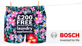 Bosch hangs out a great offer with a summer laundry promotion through TLC