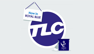 TLC Marketing change their worldwide logo to royal blue