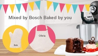 Mixed by Bosch. Baked by you.