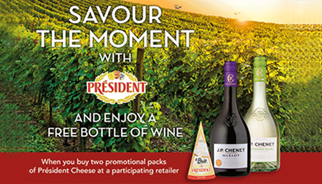 Savour the moment with President Cheese