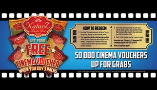 NaturZ Foods cinema promotion VUE and ODEON