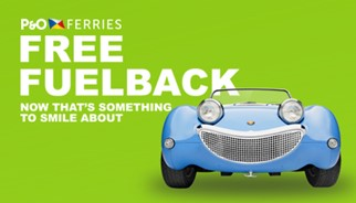 P&O Ferries free fuel promotion