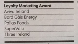 Aviva, Bord Gais, Pallas, SuperValu and Three