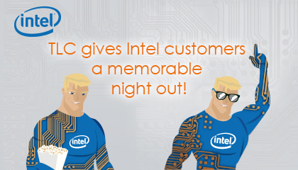 TLC Marketing's campaign with Intel, free nightclub pass