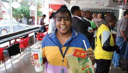 A  Happy McDonald's Consumer