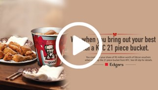 KFC's festive campaign from TLC Marketing with edgars